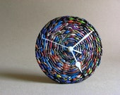 Eco-friendly 1st anniversary gift for couple • Handweaved newspaper desk clock • Upcycled paper home decor