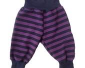 Purple and Black Stripe Baby Toddler Harem Pants