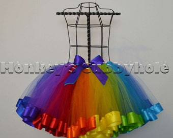 Somewhere Over the Rainbow Ribbon Trimmed Tutu