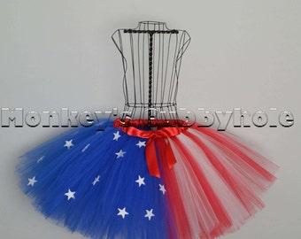 Patriotic American Flag Tutu - Adult Sized