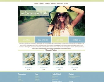 Mobile Responsive Boutique eCommerce Website Template Compatible with Merchant Moms, Shoppe Pro, Bizzy Mama, Mia Shops and Other WAHM Hosts