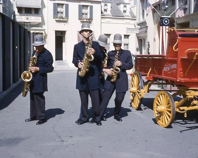 35 mm Slide/Transparency, Kodachrome 1960: Keystone Cops Saxophone Quartet (5914-16)