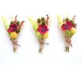 Fall Wedding Boutonniere-Billy Ball Boutonniere-Dried Flower Boutonniere-Wheat Boutonniere-Mens Lapel Pin-FALL WHEAT  COLLECTION