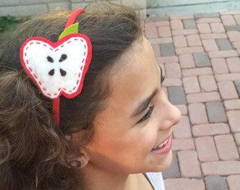 apple head band... hand stitched