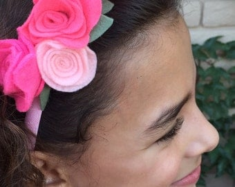 Roses for a princess headband