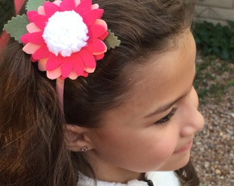 Pretty in pink.... felt headband for girls, toddlers or babies