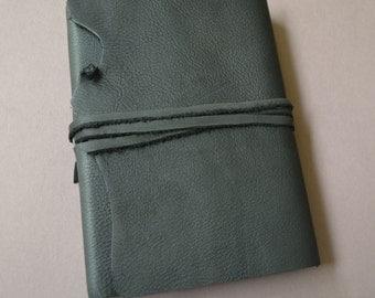 Elegant Handmade Black Leather Bound Journal Diary Custom Made to Order (458)
