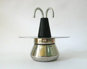 Vintage Rare Italian coffee maker Stovetop Grillo 2 cups black