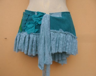 """FREE SHIPPING..... faux suede wrap belt with ties & bridal decal.....40"""" to 48'' waist or hip"""