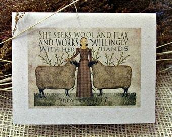 Seeks Wool Birthday Card - FREE SHIPPING