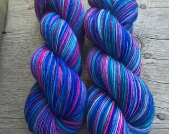 Hand dyed New Zealand yarn merino and nylon sock yarn 'Lake Dunstan'