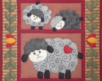 Twin Lamb Wall Quilt Complete Kit Rachel's of Greenfield