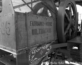 Tractor, Farm Machinery,  Black and White Photography, Fine Art Photo Print