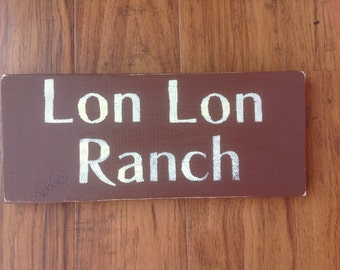 Legend of Zelda Lon Lon Ranch sign