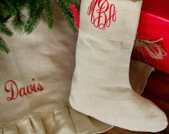 """Shop """"monogrammed christmas stockings"""" in Craft Supplies & Tools"""