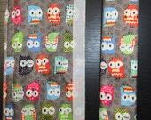 Fridge Handle Covers (2), Owls, Multi Colored, Grey, Nylon Fabric
