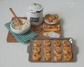 Miniature Chocolate Chip Cookies Prep Board