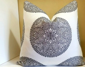 Robert Allen Pillow Cover - Medallion Pillow Cover - Pillow Cover - All sizes available - Select your size during checkout