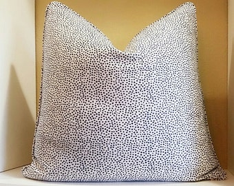 John Robshaw Bindi Indigo Confetti Dot Pillow Cover - Indigo Navy Confetti Pattern Pillow Cover - Select your size during checkout