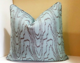 Kelly Wearstler Pillow Cover - Kelly Wearstler for Lee Jofa Agate Lake Mink (Both sides)  Select your size  and color - with self- welt