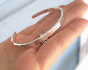 Simple Silver Cuff Bracelet, Wide Silver Stacking Cuff, Modest Cuff Bracelet, Thick Cuff Bracelet, Cuff, Simple, Layering Cuff, Thick Cuff