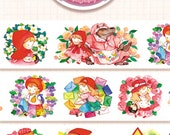 1 Roll of Limited Edition Designer Illustration Washi tape- Little Red Ridinghood