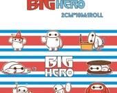 1 Roll Japanese Washi Masking Paper Tape- Big Hero 6 Baymax