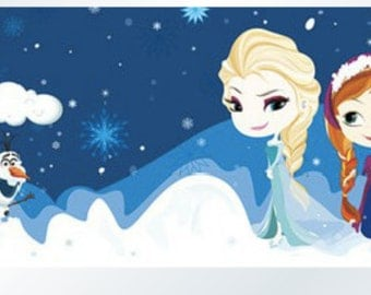 1 Roll of Limited Edition Washi Tape  (30mm x 10m)-  Frozen Elsa, Anna, and Snowman