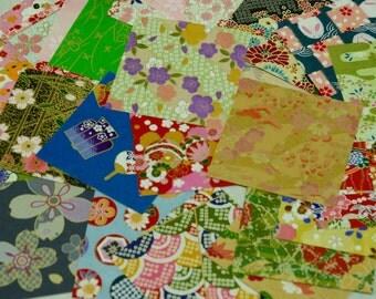 Grab a Bag: Random Pick of 20 Piece Japanese Yuzen Origami Washi Paper