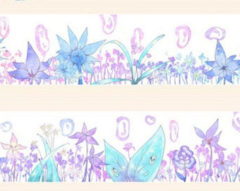 1 Roll of Japanese Washi Masking Tape- Limited Edition Butterfly and Flower