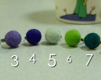 A Simply Felted Ring Pin Cushion (Pick Your Color)