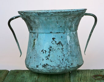 Antique patinated copper water carrier