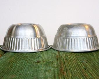 Italian 1950s aluminium cake moulds