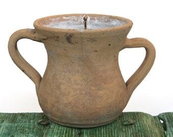 Italian terracotta double handled pot