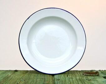 Classic Italian enamelware plate