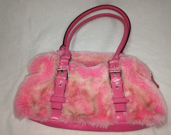 pink diva fuzzy/furry purse
