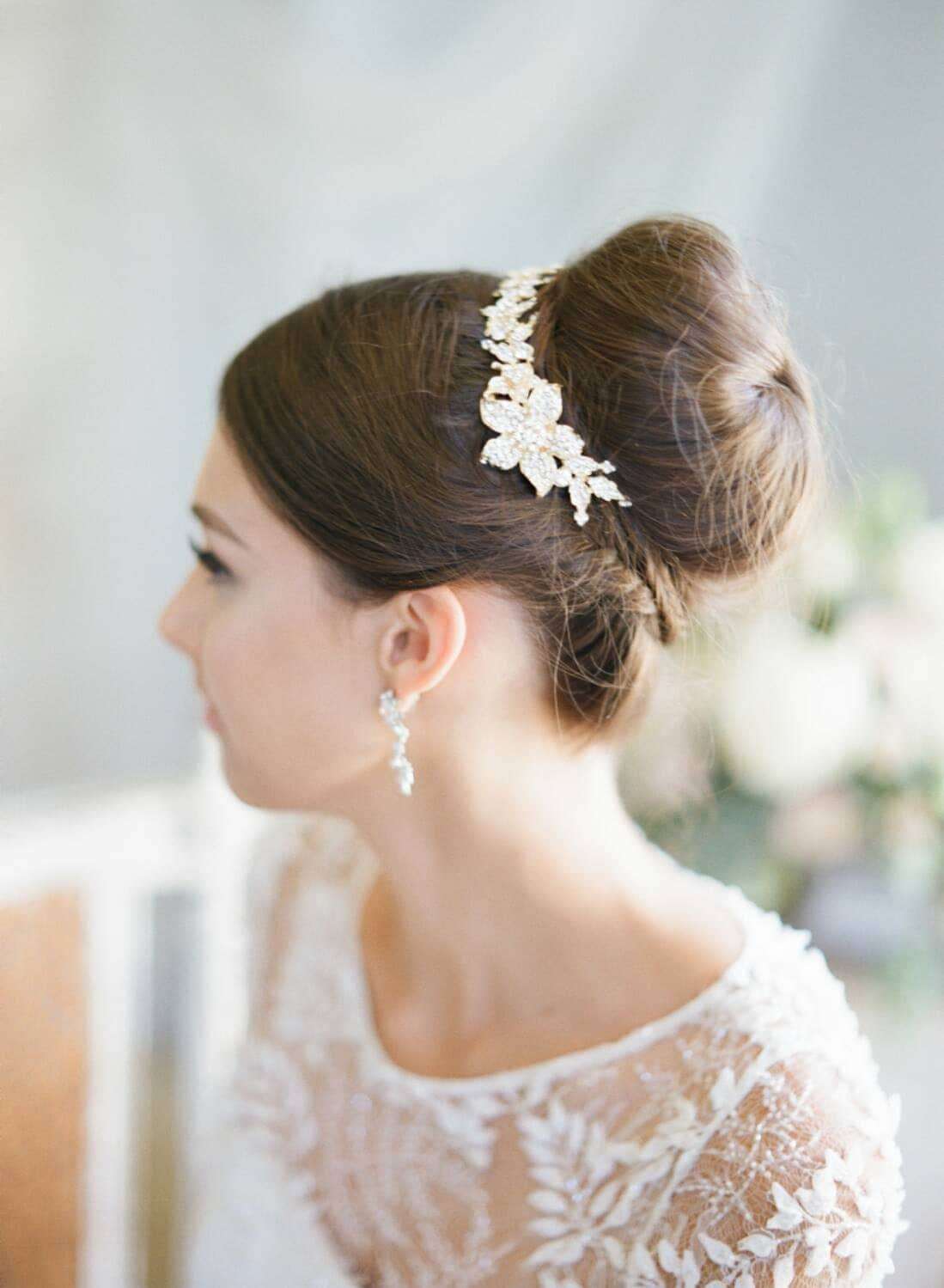 Bridal Hair Accessories For Buns : Swarovski bun wrap bridal hair vine crystal wedding