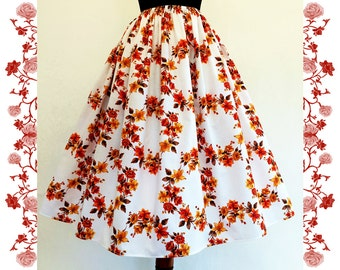 1950's Vintage Inspired Full Skirt  Rockabilly