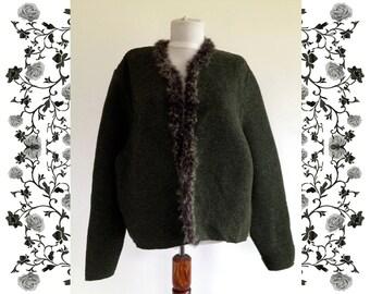 """1960's Vintage Deadstock NOS """"Jesse"""" Handknitted Dirndl Cardigan Coat"""