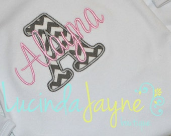 Appliquéd Initial and Embroidered Name Shirt