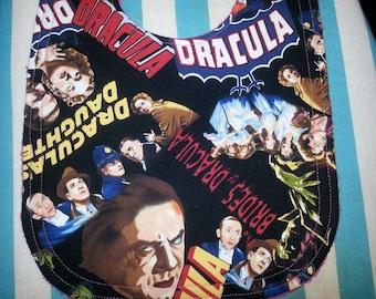 Dracula Baby Bib / Vampire Baby Bib / Halloween bib / Horror Movie bib