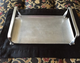 Hammered Aluminum Tray - Vintage and Fun