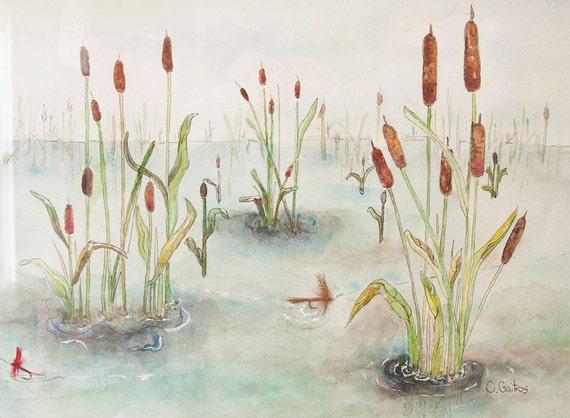 nature wall art beach scene lake painting pond framed art. Black Bedroom Furniture Sets. Home Design Ideas
