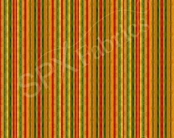 Grateful Harvest Strip fabric, Orange, yellow, green. Yardage