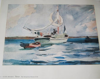 "WINSLOW HOMER, ""Sloop, Bermuda"", Plate 111, The Metropolitan Museum of Art"