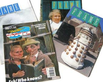 FRAME Magazine, 1987, 88, 89 and MARVEL Dr. WHO Magazine,1990
