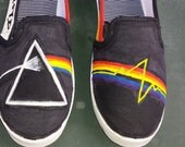 Pink Floyd Hand Painted Canvas Shoes Order your own size custom Dark Side of the Moon The Wall