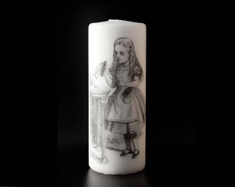 Alice in wonderland - Drink Me - Pillar Candle - Whimsical Decor