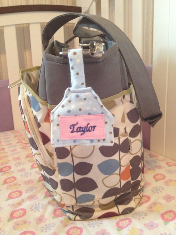 personalized diaper bag tote bag name tag great baby shower. Black Bedroom Furniture Sets. Home Design Ideas