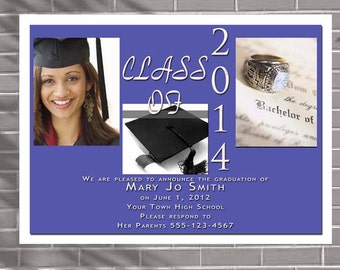 Graduation Invitations or Announcements High School College Elementary